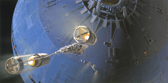 Ralph McQuarrie Y Wing and Death Star