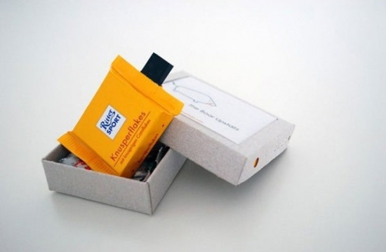 Ritter Sport Cornflake chocolate pieces USB drives
