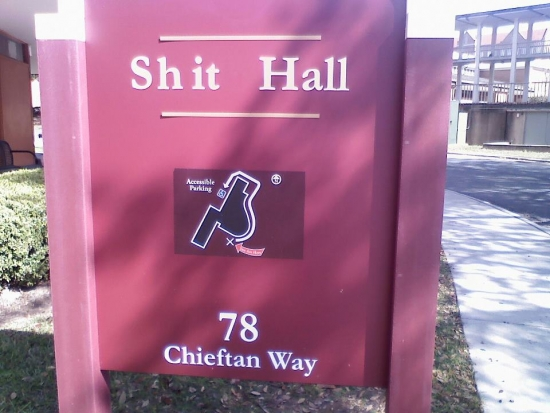 Shit Hall yes the students may have edited this one