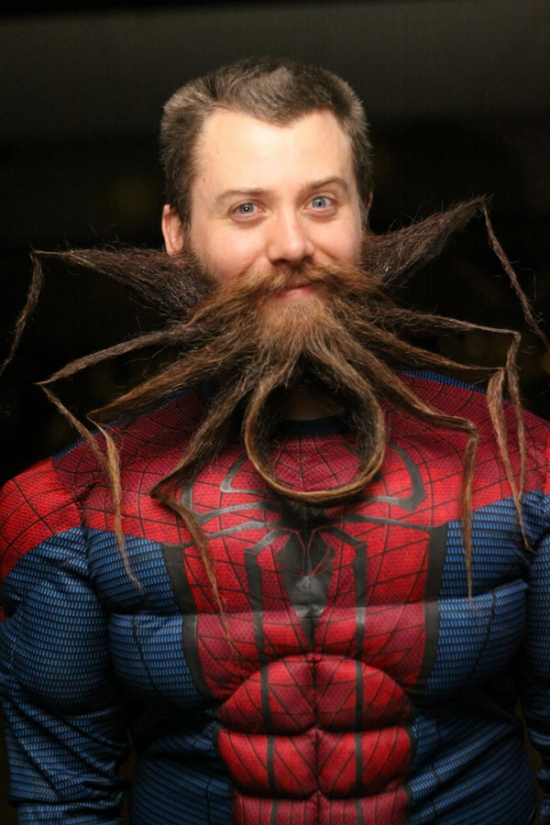 Spider man beard