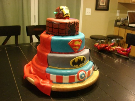 Superhero Layer Cake