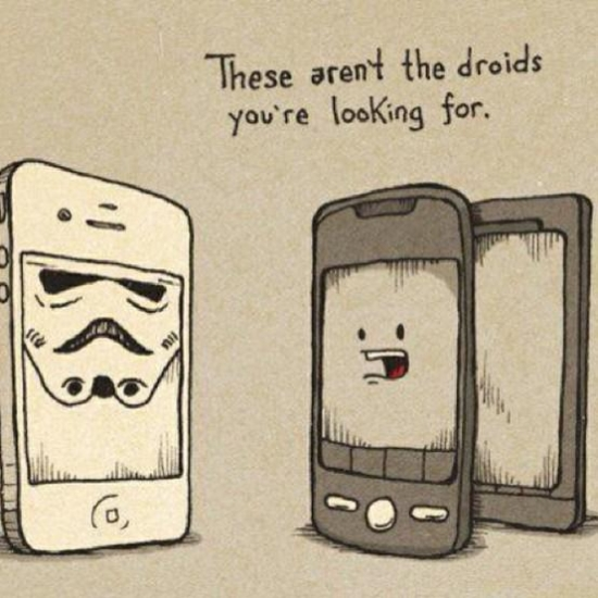These arent the droids youre looking for