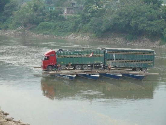 Transporting a Truck Across the River