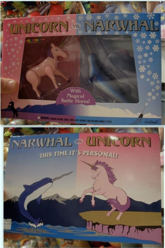Unicorn vs Narwhal Toys