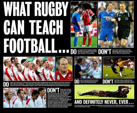 What Rugby can teach football...