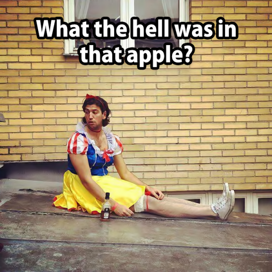 What the hell was in that apple