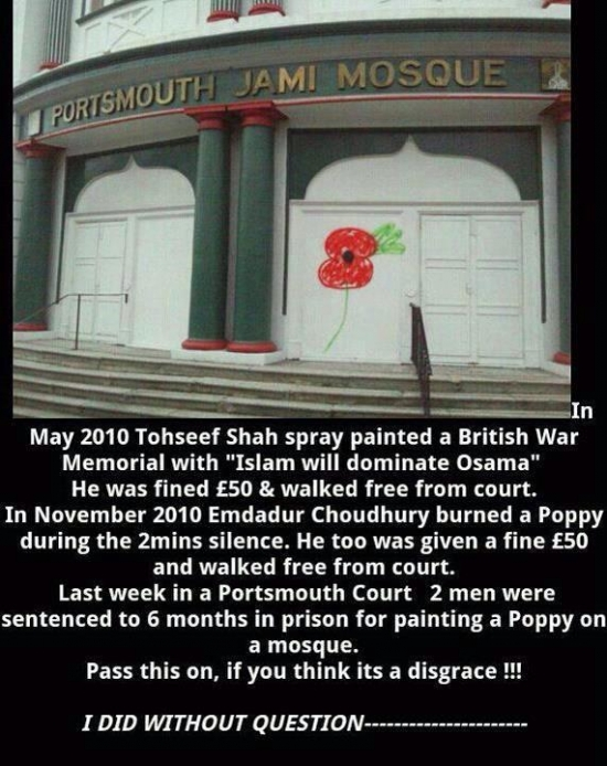 poppy on a mosque