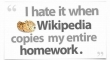 I hate it when Wikipedia...