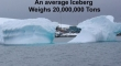 The Average Iceberg Weights 20000000 Tons