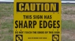 caution sharp edges