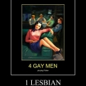 4 Gay men and a Lesbian2