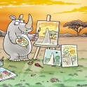 A Rhinos Paintings