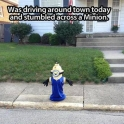 A random Minion in the street