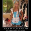 Alice in Wonderland Shes waiting for the pill to make you larger2