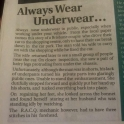 Always wear underware