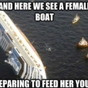 And here we have a female boat