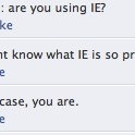 Are You Using IE