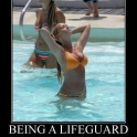 Being a lifeguard...2