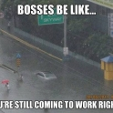 Bosses be like... Your still coming to work right
