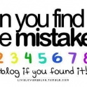 Can you find the mistake