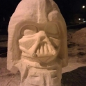 Darth Vader sand sculpture