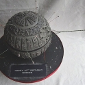 Death Star Cake with ships