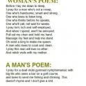 Difference Between A Poem By A Man And A Woman