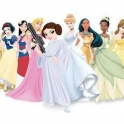 Disney Princesses all lined up