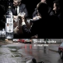 Drinking Vodka in commercials