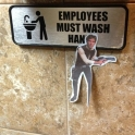 Employees must wash Han