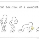 Evolution of a hangover