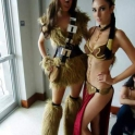 Felmale wookie and Leia slave girl
