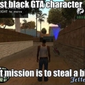 First Black GTA Character
