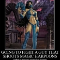 Going to fight a guy that shoots magic harpoons