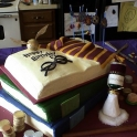 Harry Potter Books Cake