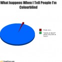 How I feel when I tell people Im colourblind.. Imgur