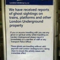 How the London Underground deal with ghosts