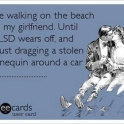 I love walking on the beach with my girlfriend