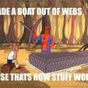 I made a boat out of webs