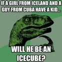 If a girl from Iceland and a guy from Cuba have a kid