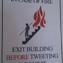 In case of a fire exit building