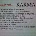 Lesson of time Karma
