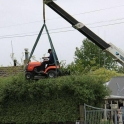 Make shift hedge mower