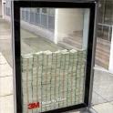 Money money money 3M showing off their Security glass
