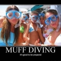 Muff Diving Its good to be prepared2