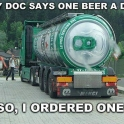 My Doc Says One Beer A Day