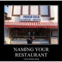 Naming Your Restaurant