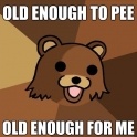 Old enough to pee