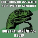 Our bodies are 75 water