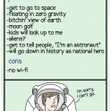Pros and cons of being an astronaut